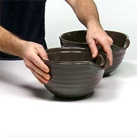 Set of 3 Stoneware Mixing Bowls
