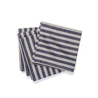 Serviette de table chambray à rayures noires