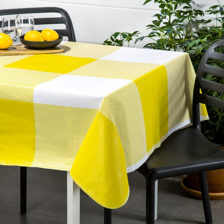Yellow Checkered Tablecloth - Photo 0