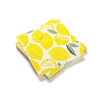 Serviettes de table en papier à motifs de citron
