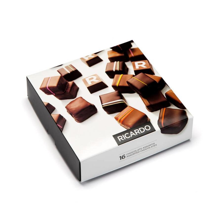 Boîte de chocolats assortis de 16 morceaux - Photo 0