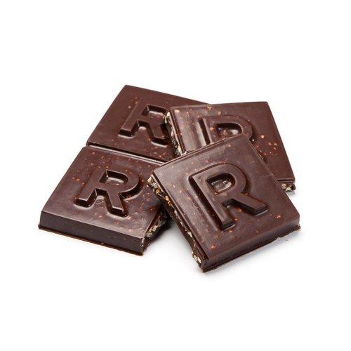 Grande barre de chocolat noir et quinoa soufflé caramélisé
