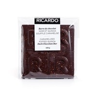 Large caramelized puffed quinoa dark chocolate bar, 100 g