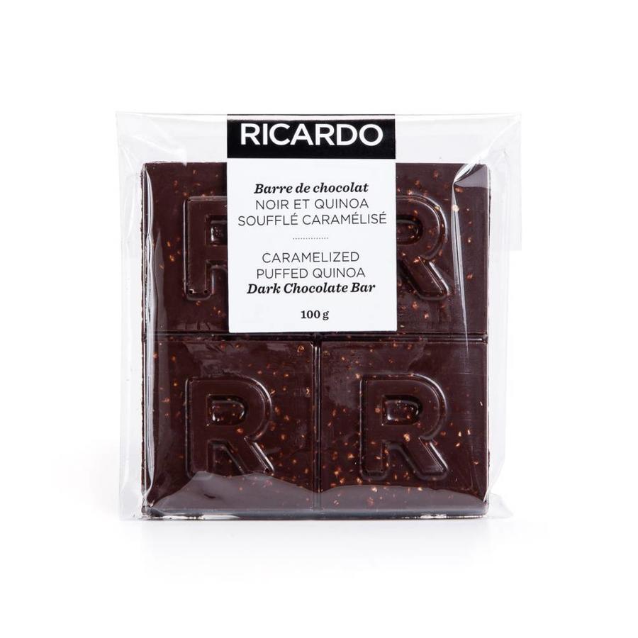 Grande barre de chocolat noir et quinoa soufflé caramélisé de 100 g - Photo 1