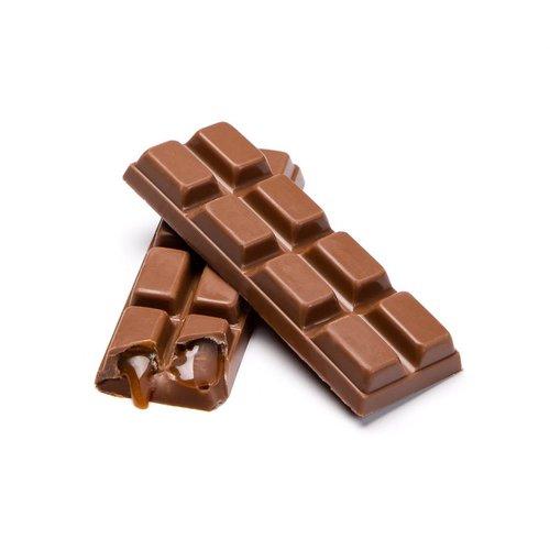 Milk chocolate and caramel bar