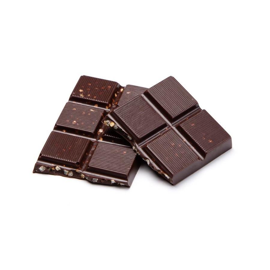 Small caramelized puffed quinoa dark chocolate bar, 35 g - Photo 0