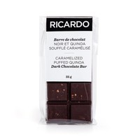 Small caramelized puffed quinoa dark chocolate bar, 35 g