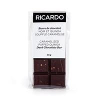 Petite barre de chocolat noir et quinoa soufflé caramélisé de 35 g