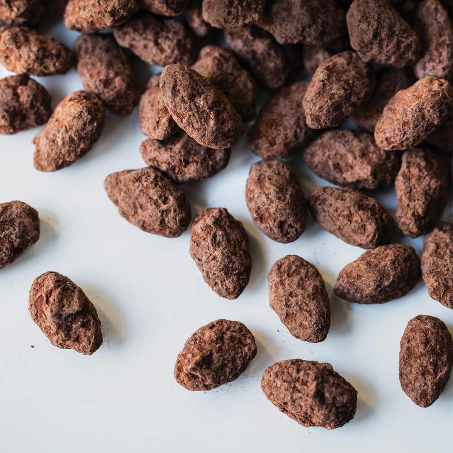 Petit sac d'amandes sablées chocolatées de 100 g - Photo 1