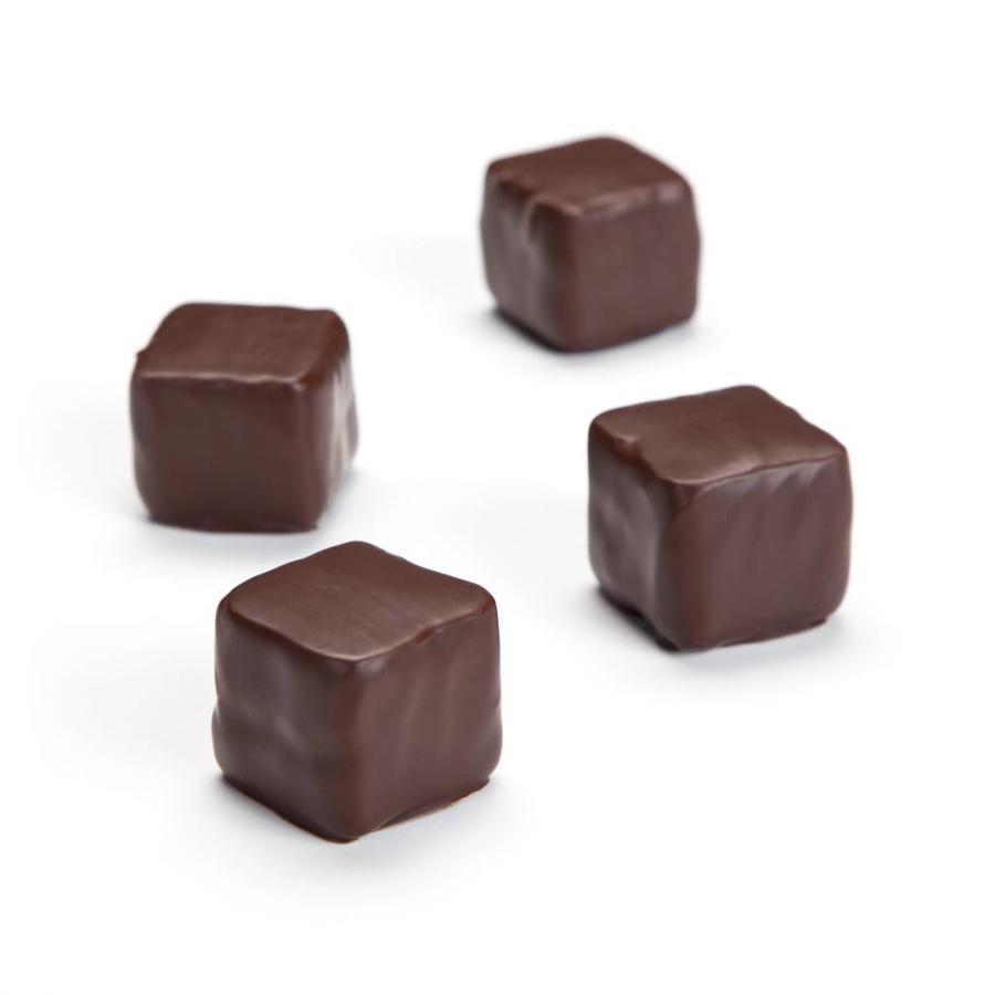 Guimauves à la framboise enrobées de chocolat noir - Photo 0