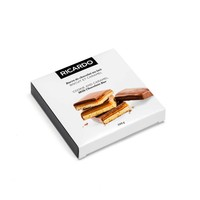 Large milk chocolate cookie bar with caramel, 220 g