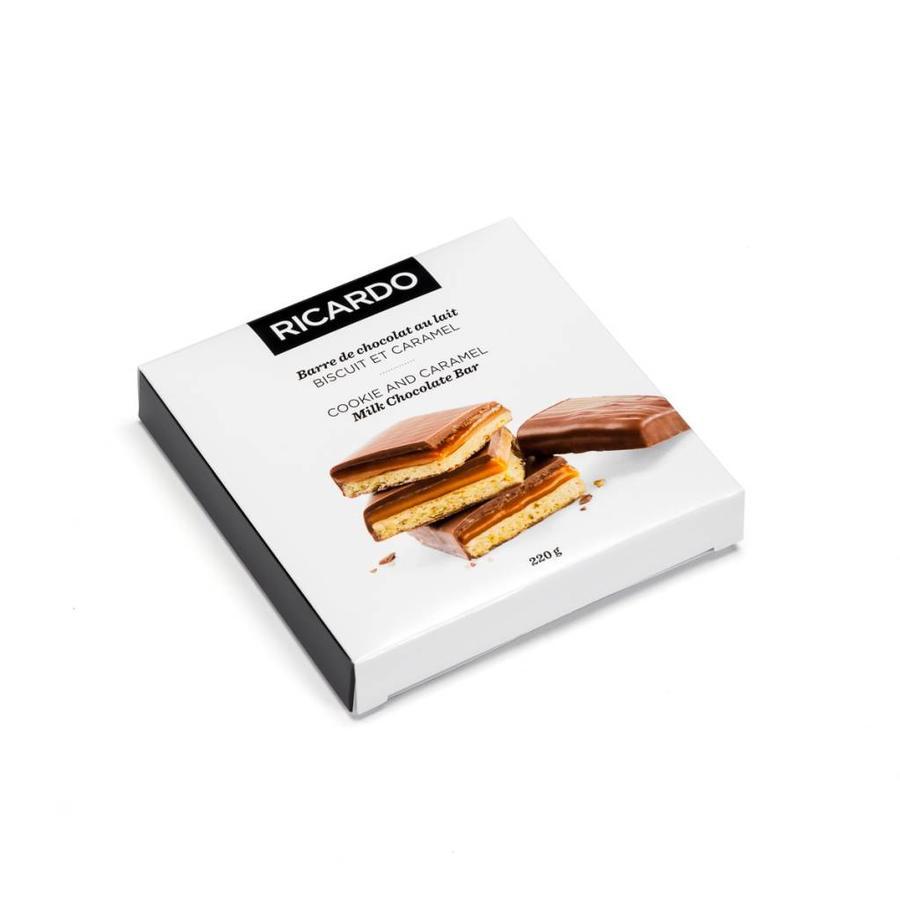 Grande barre de chocolat au lait, biscuit et caramel de 220 g - Photo 0