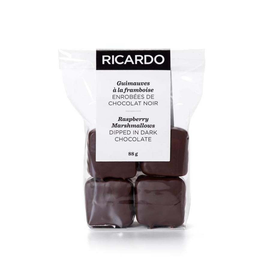 Guimauves à la framboise enrobées de chocolat noir - Photo 2