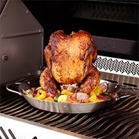 2 in 1 Chicken Roaster and Wok Basket for the BBQ