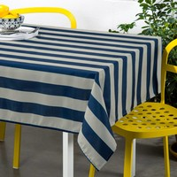 Polyester Tablecloth with weaved stripes