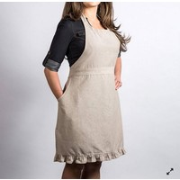 Beige Chambray Apron