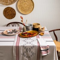 Santa Fe Tablecloth with Pompoms