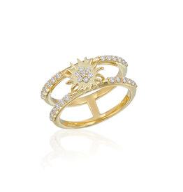 Misahara Double Sun Ring