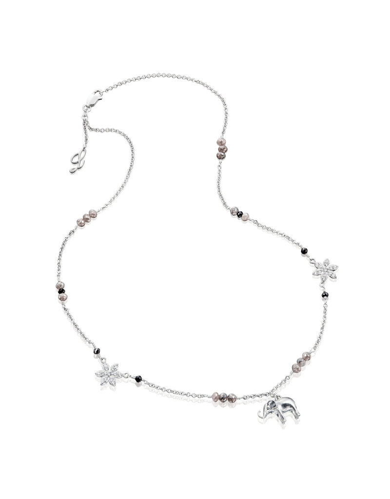 Misahara Moonflower Charm Necklace