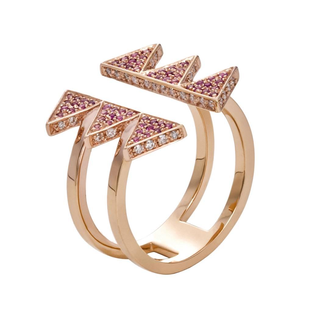 Misahara Golden Hollow Ring