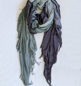 Blue Pacific Blue Scarves Tissue