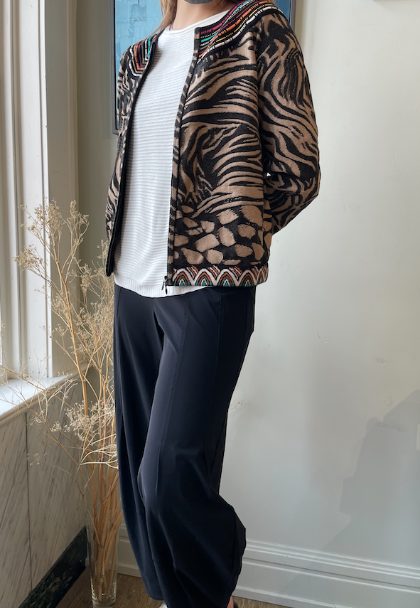 IVKO Women IVKO Bomber Jacket Animal Pattern