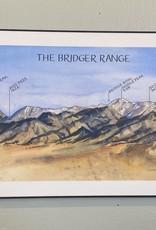 Elizabeth Person Art & Design ElizabethP-Print-Board Mounted-Bridger Range 8x24