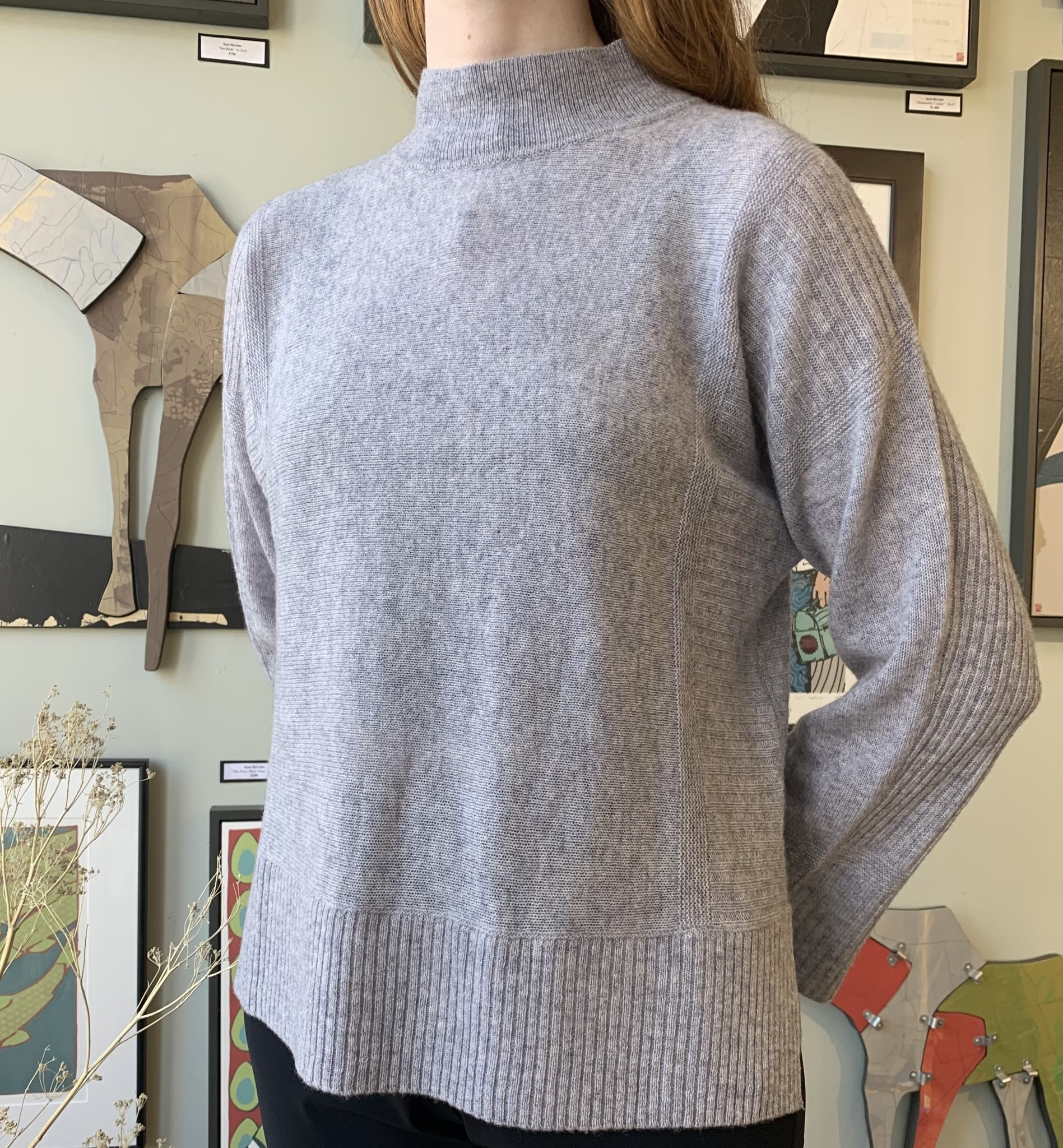 Alashan Cashmere Co Alashan- Sweater- 1008- 100% cash Kerry ribbed pullover