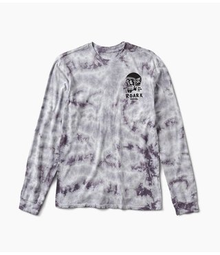 DEAD HEAD TIE DYE LS TEE GREY