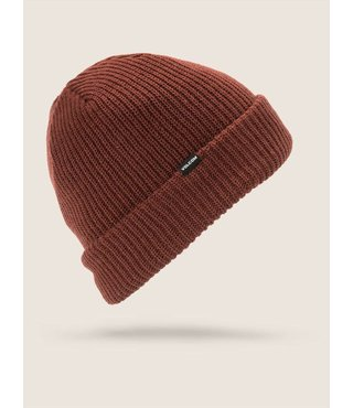 SWEEP LINED BEANIE BURNT RED
