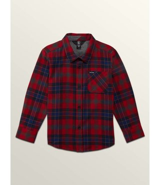 CADEN PLAID L/S ENGINE RED