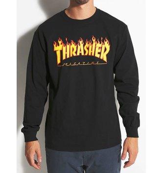 THRASHER MAGAZINE FLAME LOGO L/S
