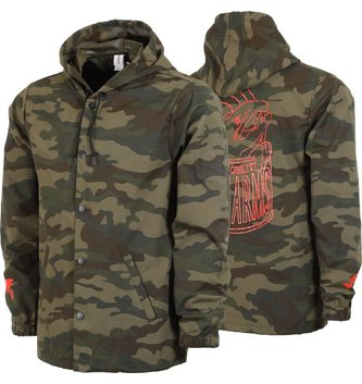 CAMO HOODED COACH