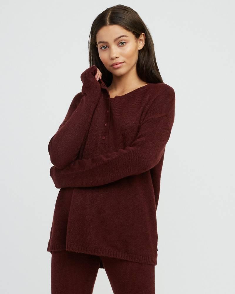 RVCA Womens Urboyfriends Henley Sweater