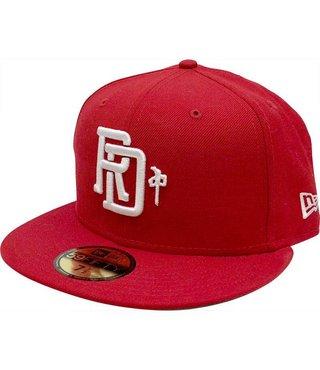RDS NEW ERA HAT MONOGRAM RED/WHITE 7 3/8