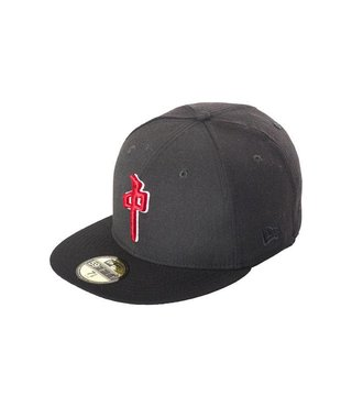 RDS NEW ERA HAT DYNASTY BLACK/RED 7 3/8