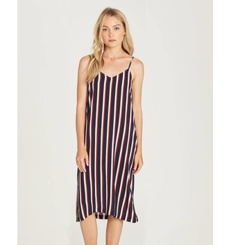ELEMENT SKATEBOARDS Bobby Striped Midi Dress