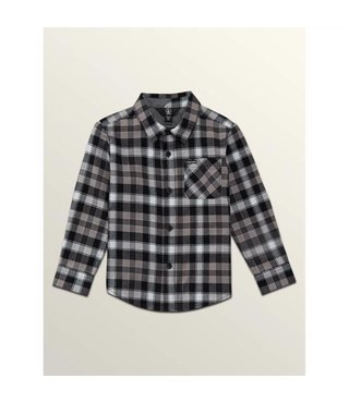 CADEN PLAID L/S BLACK