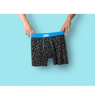 SAXX UNDERWEAR ULTRA BOXER BRIEF FLY - BLACK TOOLBOX
