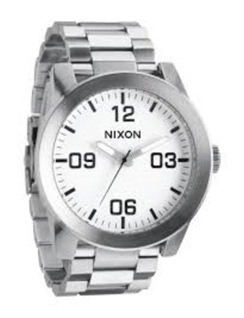 NIXON WATCHES CORPORAL SS: WHITE