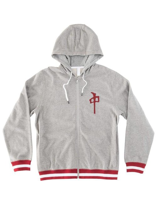 Red Dragon Apparel RDS ZIP HARD BALL - Heather Grey/Red