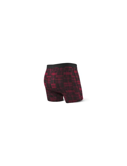 SAXX UNDERWEAR VIBE BOXER BRIEF - Red Patched Plaid