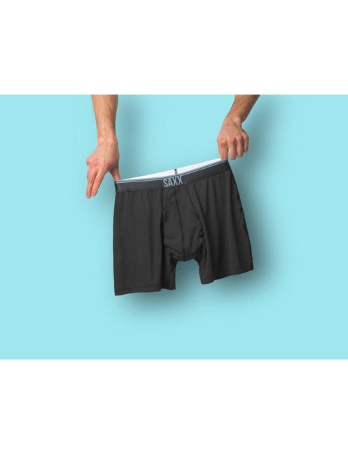 SAXX UNDERWEAR QUEST 2.0 BOXER WITH FLY - Black