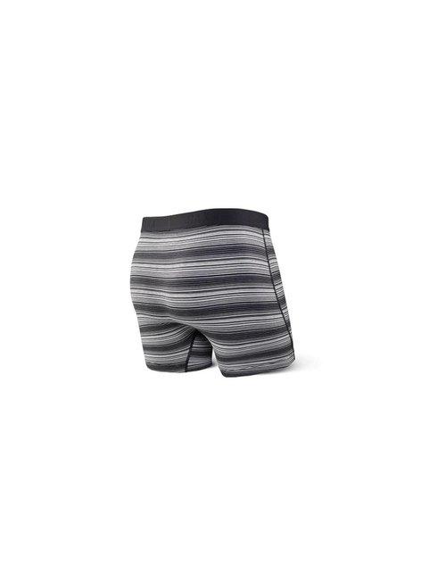 SAXX UNDERWEAR ULTRA BOXER FLY - Black Ombre Stripe