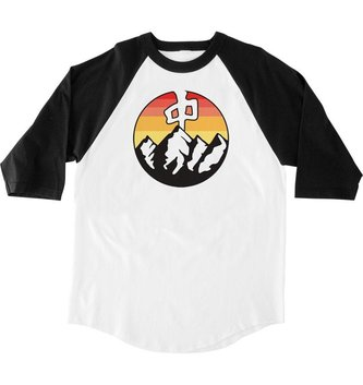 Red Dragon Apparel RDS 3/4 SLEEVE BANGER OUTDOORS - White/Black