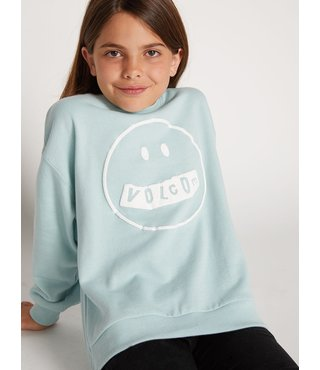 Big Girls Darting Traffic Crew Sweatshirt - Mint