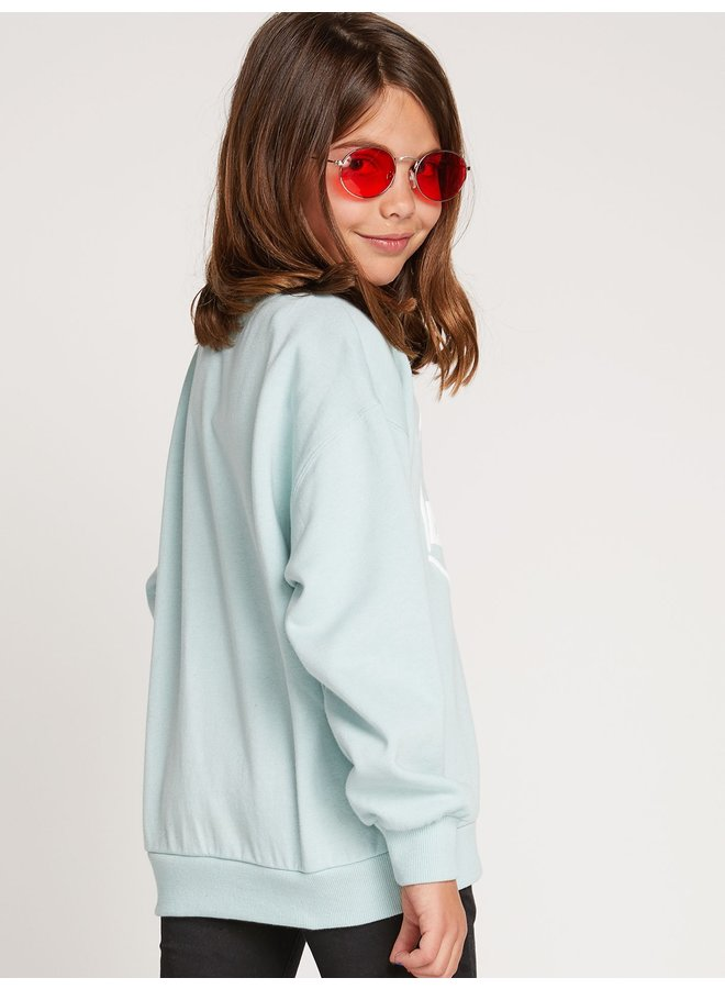 Big Girls Darting Traffic Crew Sweatshirt - Mint