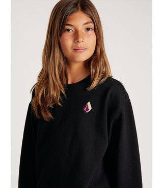 Big Girls Darting Traffic Crew Sweatshirt - Black