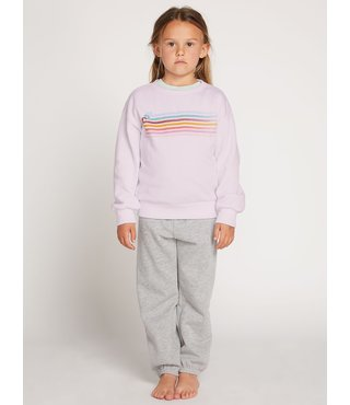 Little Girls Darting Traffic Crew Sweatshirt - Blush Pink