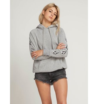 VOLCOM Deadly Stones Hoodie - Heather Grey